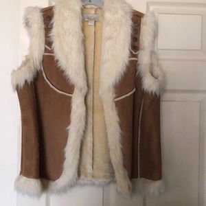 Other - Style  faux fur soft suede vest